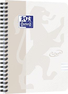 Oxford Touch cahier spiralé, ft A5, 140 pages, gris clair, ligné