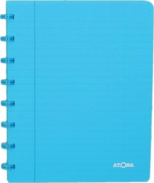 Atoma schrift Trendy ft A5, commercieel geruit, transparant turkoois