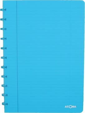 Atoma schrift Trendy ft A4, gelijnd, transparant turkoois