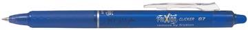 Roller Pilot FriXion Ball Clicker, rétractable, pointe medium, 0,7 mm, bleu