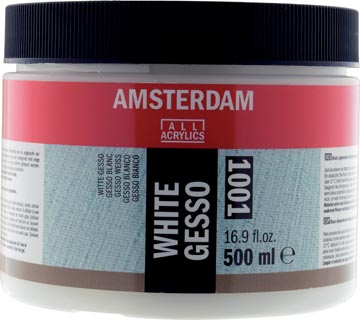 Amsterdam witte gesso, fles van 500 ml