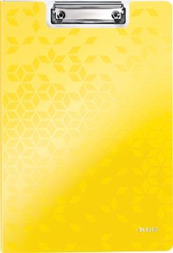 Leitz WOW klemmap met omslag, ft A4, geel