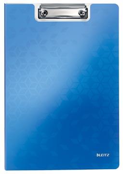 Leitz WOW klemmap met omslag, ft A4, blauw