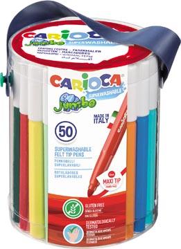 Carioca feutre Jumbo, 50 feutres dans un pot plastique
