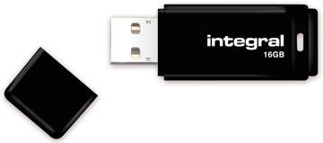 Integral USB 2.0 stick, 16 GB, zwart