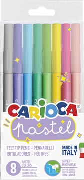 Carioca feutres Pastel, 8 pièces en blister