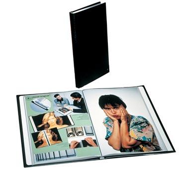 Rillstab showalbum A4 40 tassen, zwart