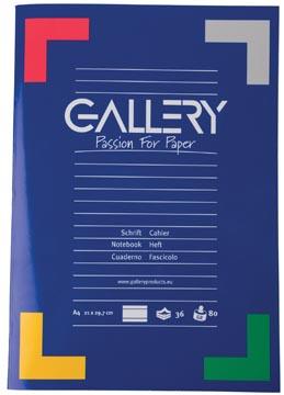 Gallery schrift, ft A4, gelijnd, 72 bladzijden