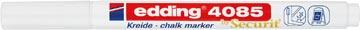 Edding Marqueur craie e-4085, pointe ronde de 1 - 2 mm, blanc