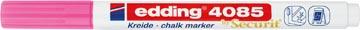Edding Marqueur craie e-4085, pointe ronde de 1 - 2 mm, rose néon