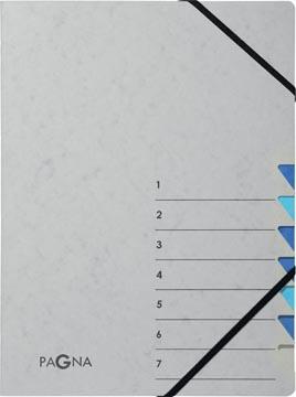 Pagna sorteermap Easy Grey voor ft A4, 7 vakken, blauw