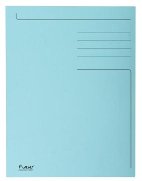 Exacompta dossiermap Foldyne ft 24 x 35 cm (voor ft folio), lichtblauw, pak van 50 stuks