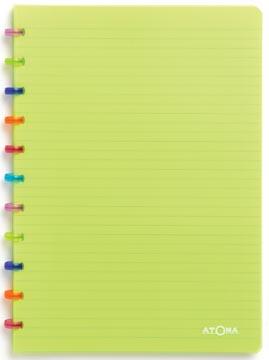 Atoma schrift Tutti Frutti ft A4, gelijnd, transparant groen