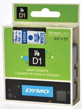 Dymo D1 tape 19 mm, blauw op wit