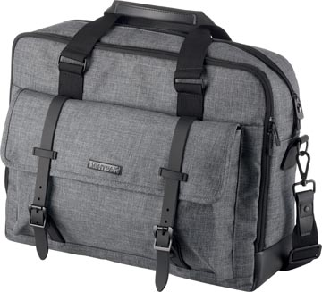 Lightpak by Jüscha laptoptas TWYX, voor 15 inch laptops, grijs