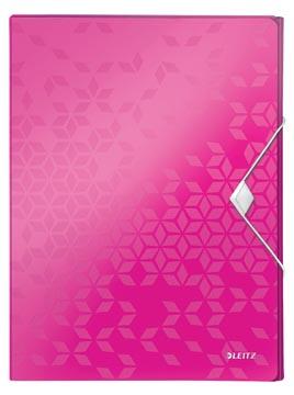 Leitz WOW elastobox ft A4, roze