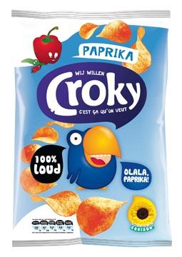 Croky chips paprika, sachet de 100 g