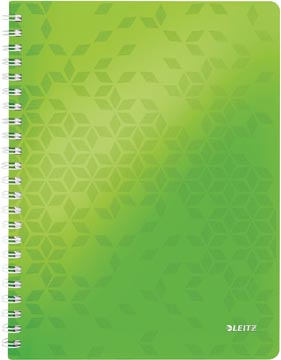Leitz WOW schrift ft A4, geruit, groen