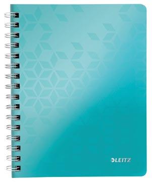 Leitz WOW schrift ft A5, geruit 5 mm, ijsblauw