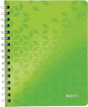 Leitz WOW cahier, ft A5, quadrillé, vert