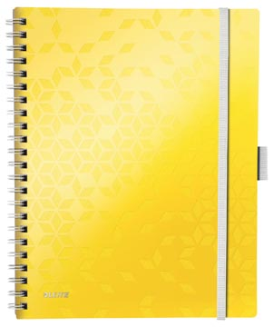 Leitz WOW schrift Be Mobile, ft A4, gelijnd, geel