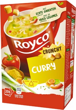 Royco Minute Soup curry met croutons, pak van 20 zakjes