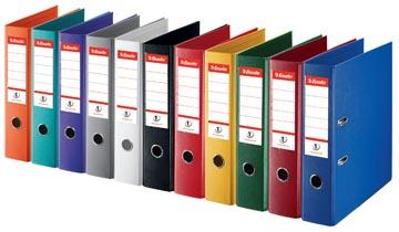 Esselte ordner,Power N°1 geassorteerde kleuren: 2 x rood, groen, blauw, wit en zwart, rug van 5 cm