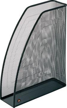 Alba tijdschriftenhouder in mesh metaal, zwart