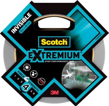 Scotch ruban de réparation haute performance Extremium Invisible, ft 48 mm x 20 m, transparent