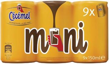 Cecemel lait au chocolat Mini, canette de 15 cl, paquet de 18 pièces