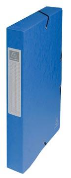 Exacompta boîte de classement Exabox bleu, dos de 4 cm
