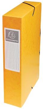 Exacompta boîte de classement Exabox jaune, dos de 6 cm