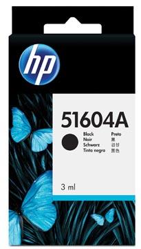 HP inktcartridge en printkop 04A, voor calculators, OEM 51604A, zwart