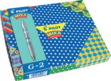 Pilot gelroller G-2 Mika Limited Edition, geschenkdoos met 6 gelrollers