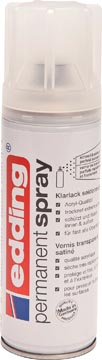 Edding Permanent Spray 5200 transparante lak, 200 ml, mat