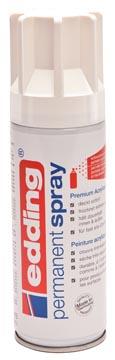 Edding Permanent Spray 5200, 200 ml, verkeerswit mat