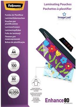 Fellowes lamineerhoes Enhance80 ft A4, 160 micron (2 x 80 micron), pak van 100 stuks