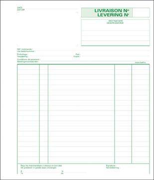 Exacompta livraisons, ft 21 x 18 cm, dupli (50 x 2 feuilles), bilingue (NL/FR)