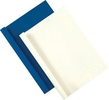 Fellowes couvertures thermique ft A4, 3 mm, paquet de 100 pièces, grain cuir, blanc