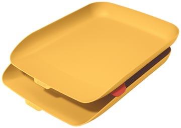 Leitz Cosy bac à courrier, jaune, set de 2 pièces