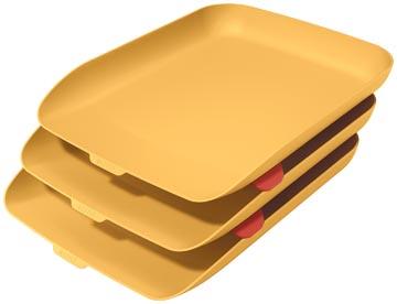Leitz Cosy bac à courrier, jaune, set de 3 pièces