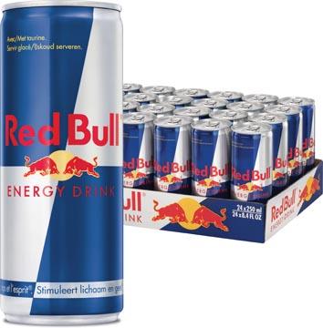 Red Bull boisson énergisante, regular, cannette de 25 cl, paquet de 24