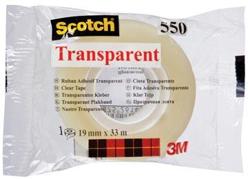 Scotch transparante tape 550 ft 19 mm x 33 m