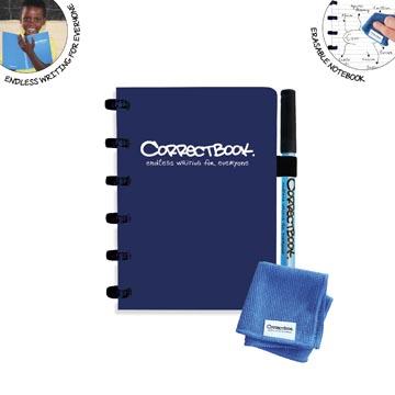 Correctbook A6 Original: uitwisbaar / herbruikbaar notitieboek, gelijnd, Midnight Blue (marineblauw)