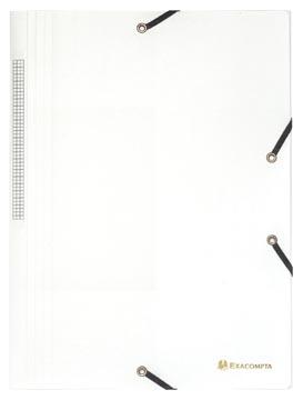 Exacompta elastomap A4, uit PP, 3 kleppen en elastiek wit