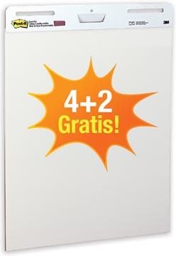 Post-it meeting chart, ft 63,5 x 77,5 cm, blanco, 30 vel, pak van 4 + 2 gratis