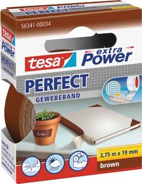 Tesa extra Power Perfect, ft 19 mm x 2,75 m, bruin