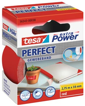 Tesa extra Power Perfect, ft 38 mm x 2,75 m, rood