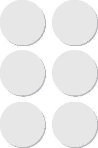 Apli ronde etiketten in etui diameter 32 mm, wit, 36 stuks, 6 per blad (2665)