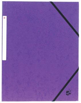 Pergamy elastomap 3 kleppen, paars, pak van 10 stuks
